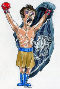Army Caricature Rocky