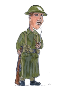 Army Caricature - Wilfred Owen